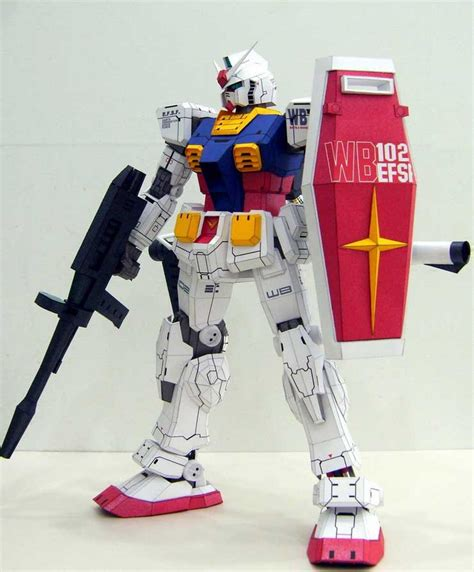 paper craft gundam rx 78 2 gundam papercraft by rarra