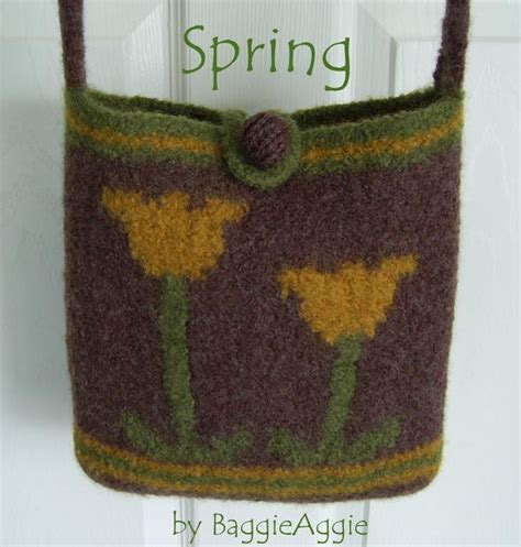 felted purse knitting patterns no sew felted bag by baggieaggie knitting pattern