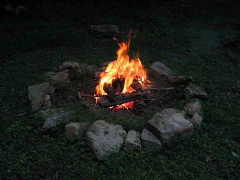 campfire at high alps ordinary mostly