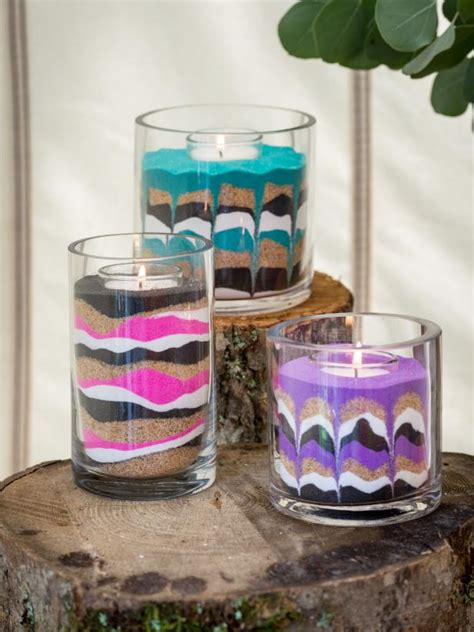 sand crafts for easy diy sand candles hgtv