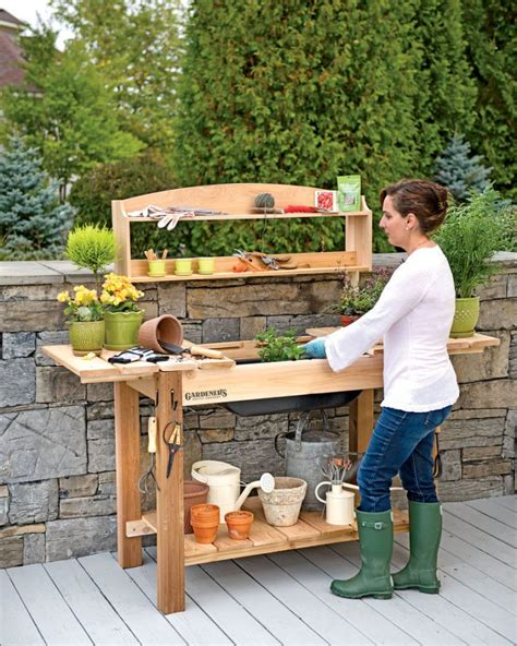Gardening Workbench 58 Awesome Potting Benches For Every Gardener Shelterness