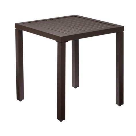 patio side table metal hton bay mix and match metal outdoor side table