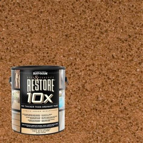 home depot paint deck rust oleum restore 1 gal timberline deck and concrete 10x