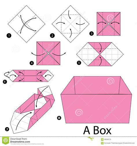 how to make a origami step by step step by step how to make origami a box stock