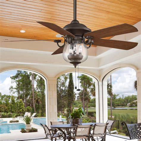 exterior ceiling fans with lights indoor outdoor cloche glass ceiling fan shades of light