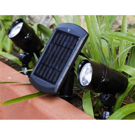 lot de 2 spots solaire chili 48 lm noir inspire leroy merlin