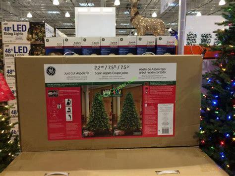 box for tree lights ge 7 5 ft pre lit led easy light technology dual color