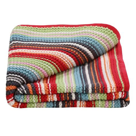 Unisex Multi Coloured Knitted Baby Blanket Part Of Our