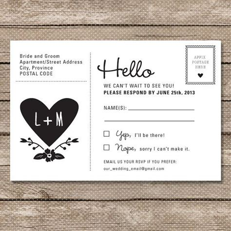 how to make rsvp cards for wedding wedding rsvp postcard printable pdf garden whimsy