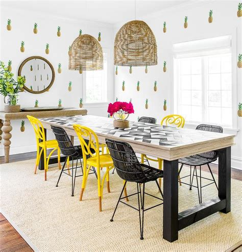 yellow dining room chairs yellow and black dining chairs eclectic dining room
