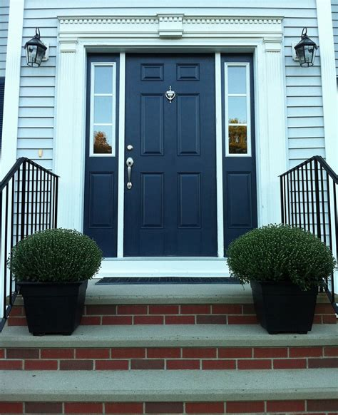 navy blue front doors blue front door for a warm and friendly house