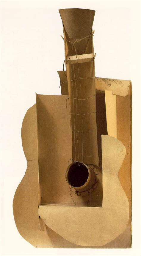 picasso paintings guitar guitar 1912 pablo picasso wikiart org