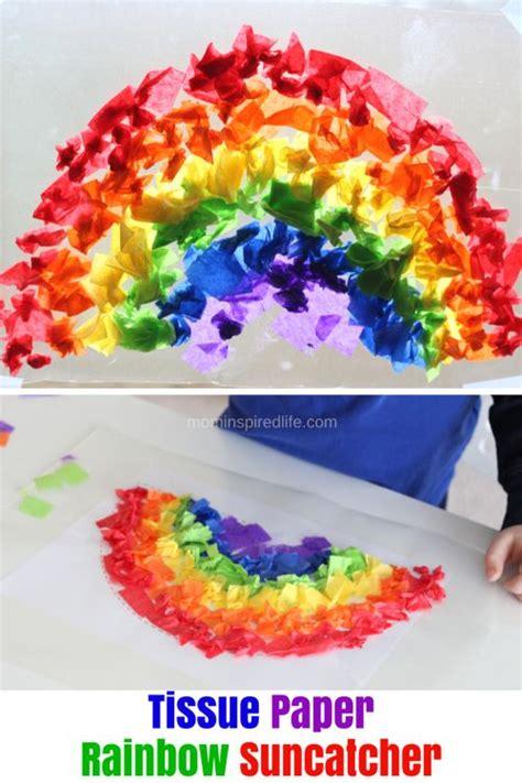 tissue paper suncatcher craft best 25 contact paper crafts ideas on