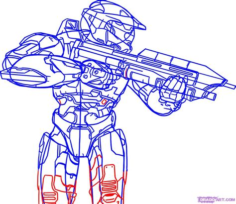 how to draw how to draw halo step by step characters pop