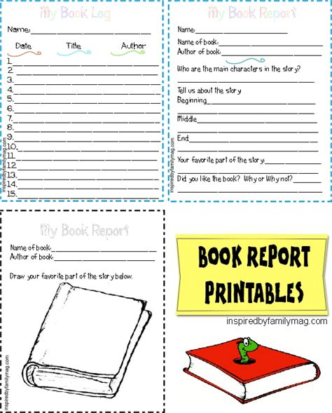 printable picture books free printable book report