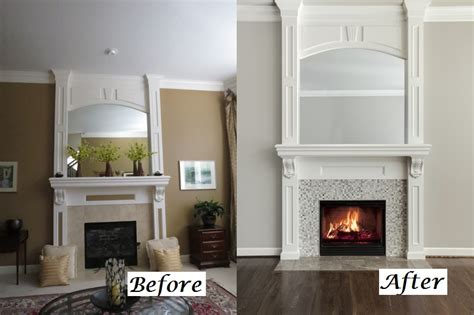 before and after a designer fireplace before after transformations from our design