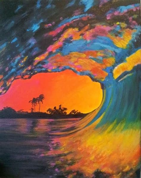 acrylic painting all is best acrylic painting called pink wave great