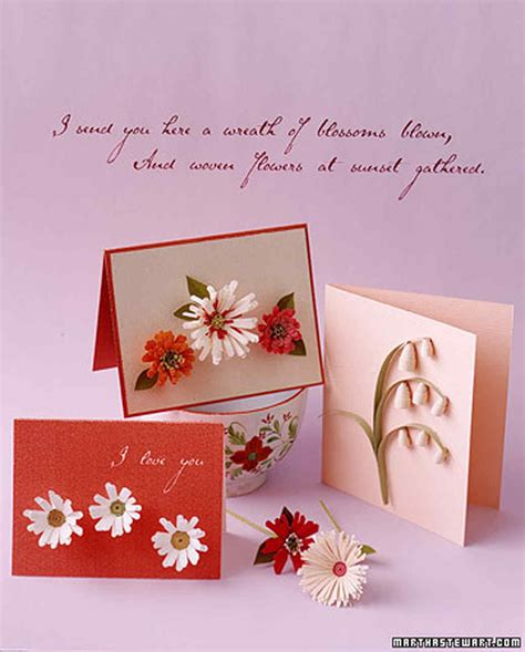 to make cards how to make quilled cards martha stewart