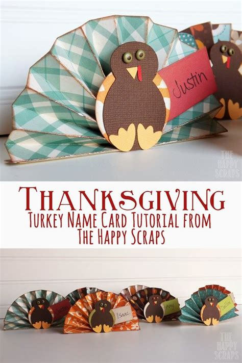 make your own thanksgiving cards thanksgiving turkey name card tutorial learn how to make