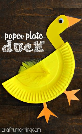 paper plate duck craft creative paper plate crafts for to make crafty morning