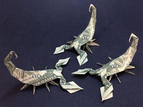 origami scorpion scorpion dollar bill origami animal reptile insect made