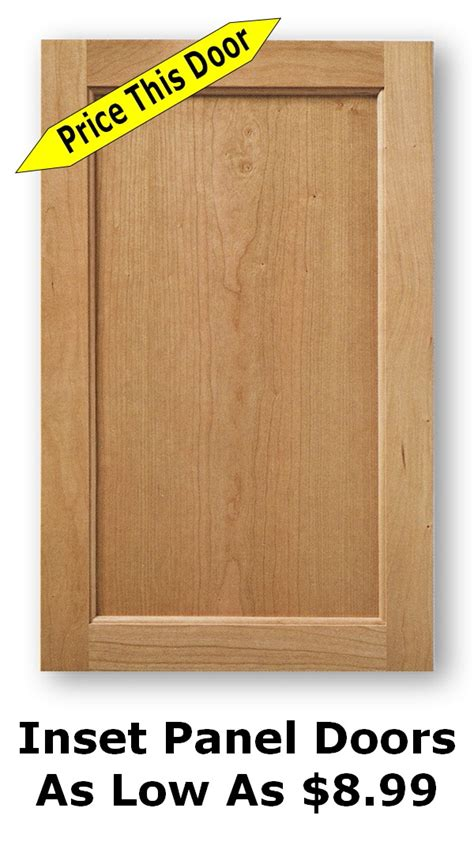 inset panel cabinet door unfinished shaker cabinet doors as low as 8 99