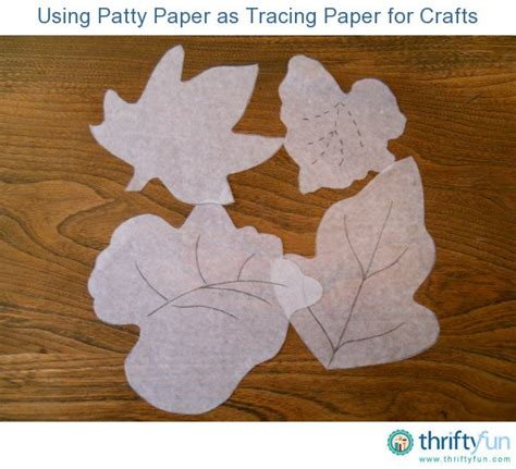 Using Patty Paper As Tracing Paper For Crafts Thriftyfun