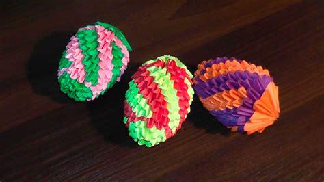 origami easter egg 3d origami easter egg v 2 master class tutorial