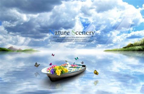 Car Wallpapers Free Psd Files Wedding by Beautiful Nature Scenery With Butterflies Psd Background