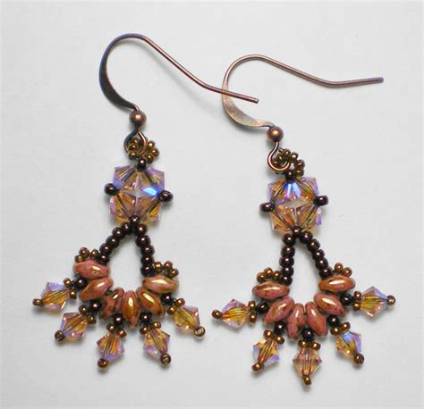 beading with superduos free superduo earring pattern editors bead
