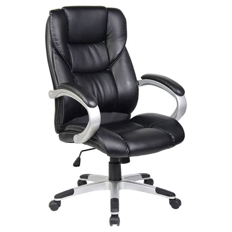 executive office chair leather high back luxury executive office chair leather computer desk furniture ebay