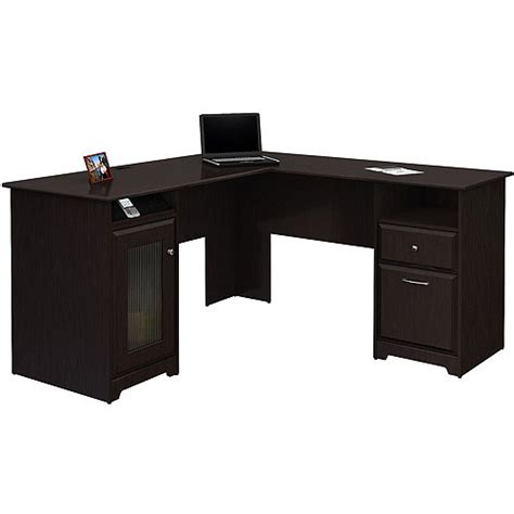black l shaped computer desk bush cabot l shaped computer desk espresso oak walmart