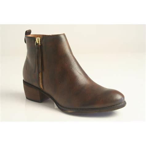 leather with zips pikolinos pikolinos brown leather zip up ankle boot with zip trim pikolinos from nicholas