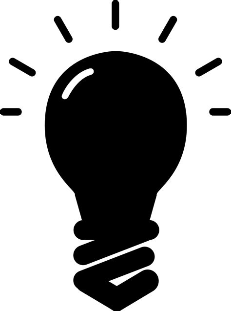 silhouette lights best light bulb icon png vector design 187 free vector