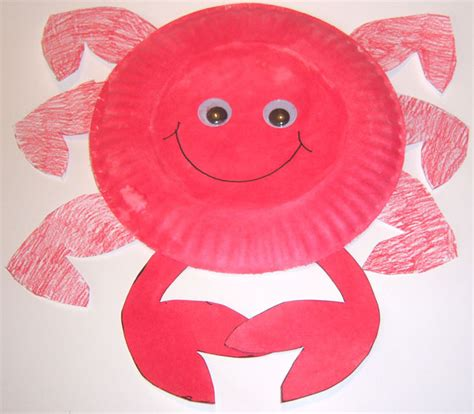 crab paper plate craft crab plate craft