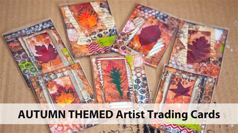 how to make artist trading cards mixed media autumn artist trading cards