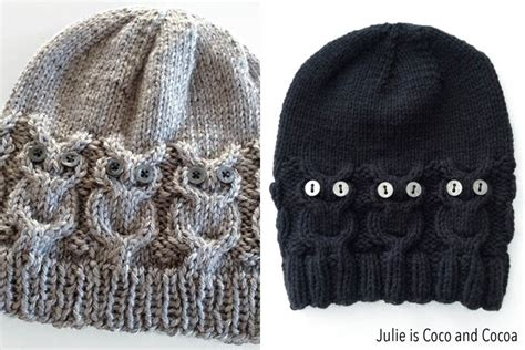 owl hat pattern knit owl hat knit pattern julie measures