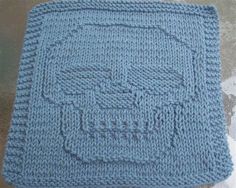 how to make a knitted dishcloth digknitty designs just a skull knit dishcloth pattern