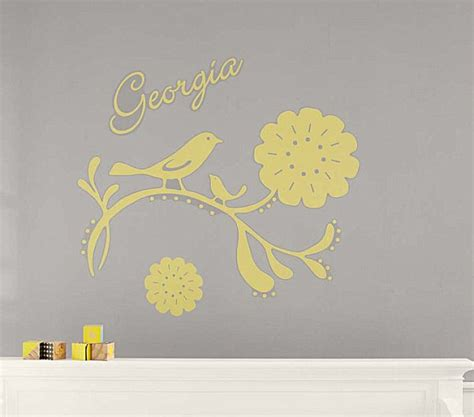 personalized nursery wall decals a personalized bird nursery wall decal decoist