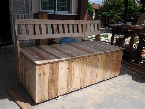outdoor furniture made out of pallets outdoor bench pallet outdoor bench with storage box