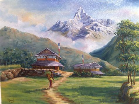 lalitkala creations beautiful watercolor landscape