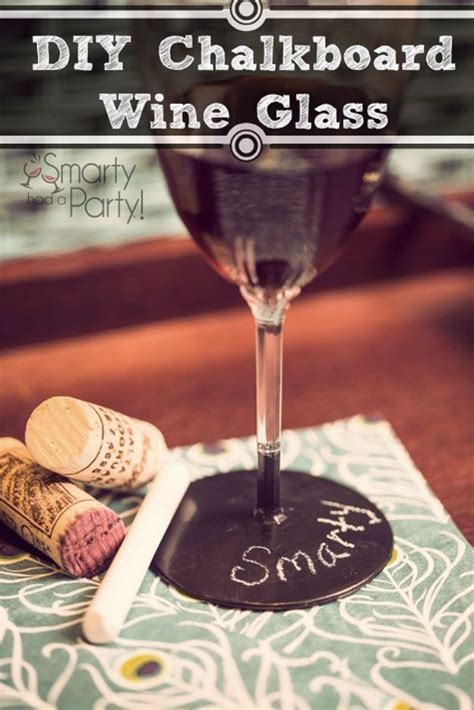 diy chalkboard label wine glasses 52 diy chalkboard paint ideas for furniture and decor