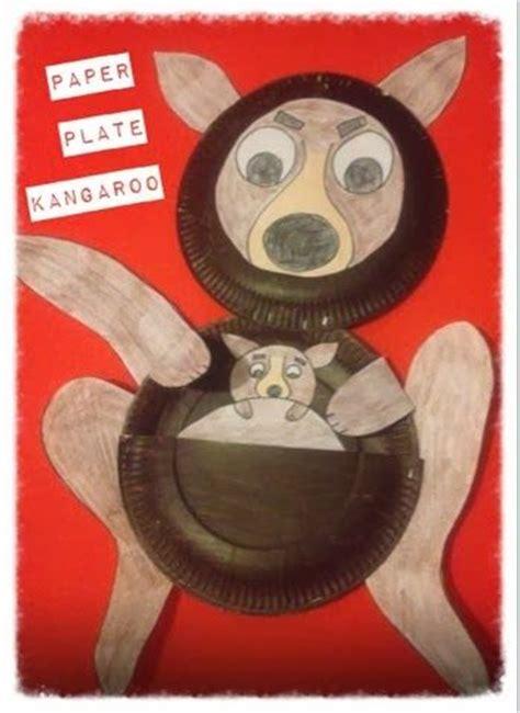 paper mashing craft kangaroo craft kangaroos and paper plates on