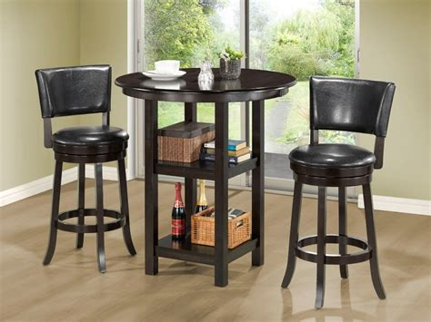 kitchen high table sets small high top kitchen table with storage and