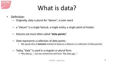 what is what is quot data quot