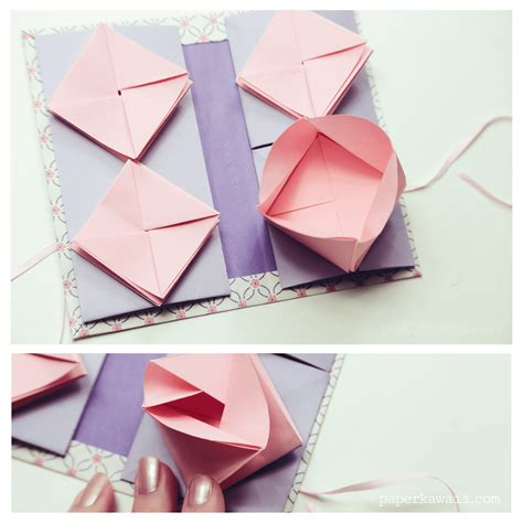 origami bok origami thread book tutorial paper kawaii