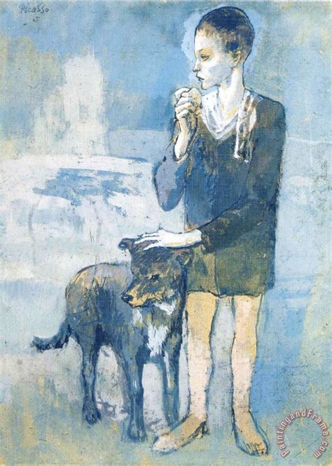 picasso paintings of dogs pablo picasso boy with a 1905 painting boy with a