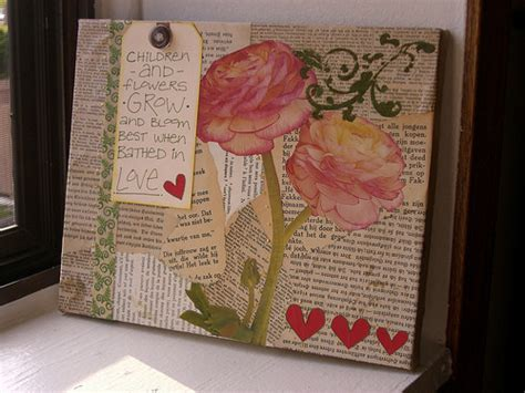 decoupage on canvas altered canvas 183 how to make a collages 183 collage and