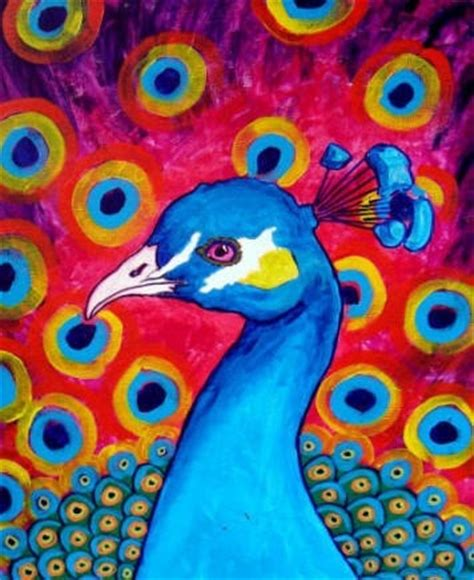 using poster paint peacock bird print poster painting modern by