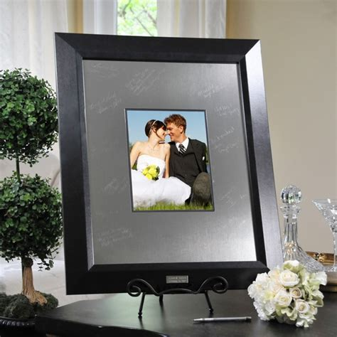 picture frame guest book wedding engraved guest book signature wedding picture frame ebay